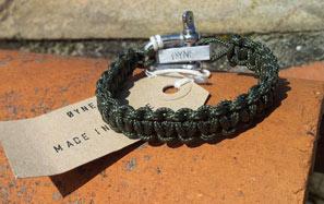 bracelet fin paracord kaki